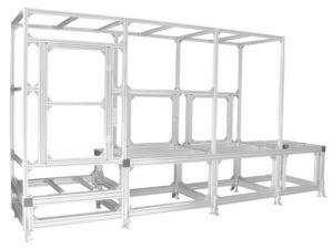 アルミフレームのワーク移動搬送装置ベース台